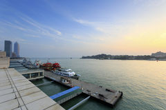 The heping ferry terminal sunset, amoy city, china Stock Photo
