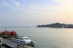 The heping pier sunset, amoy city, china Stock Photos