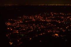 Heppenheim bis zum Nacht Stockbild