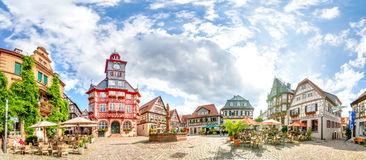 Heppenheim, Market Place, Panorama. Old german village heppenheim in germany Royalty Free Stock Photos