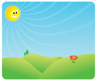 Heppy Sun scene Stock Photo