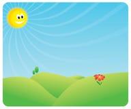 Heppy Sun Szene Stockfoto