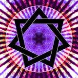 Heptágono - estrella del amor Imágenes de archivo libres de regalías