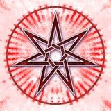 Heptágono - estrella del amor ilustración del vector