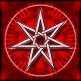 Heptágono - estrella del amor Fotos de archivo libres de regalías