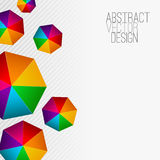 Heptagon abstract colorful background Stock Photography