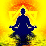 Heptagon Meditation Stock Photography