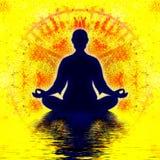 Heptagon Meditation Royalty Free Stock Photo