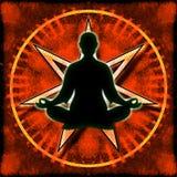Heptagon Meditation Royalty Free Stock Image