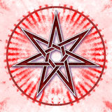 Heptagon - Star Of Love Stock Images