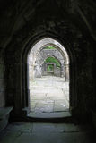 Heptonstall-church-through-arches Royalty Free Stock Photo