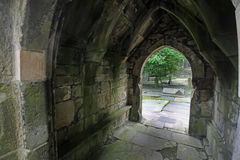 Heptonstall-church-door-arch Royalty Free Stock Photo