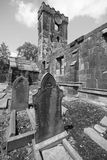 Heptonstall-church-external-view-graves Royalty Free Stock Images