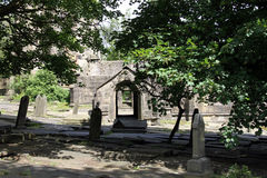Heptonstall-church-gravestones Stock Photos