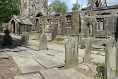 Heptonstall-church-gravestones Royalty Free Stock Image