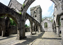 Heptonstall-church-interior-arches-2 Royalty Free Stock Photos