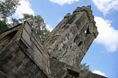 Heptonstall-church-looking-up Stock Photos