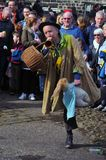 An actor playing the character tosspot in the traditional good friday easter pace egg play in heptonstall west yorkshire. Heptonstall, West Yorkshire, UK - March Stock Images