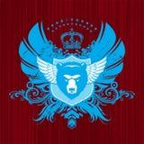 Heráldica com cabeça do urso ilustração royalty free