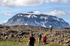 Herðubreið, IJsland stock afbeeldingen