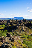Herðubreið en Dimmu Borgir, noordelijk IJsland. Stock Afbeeldingen
