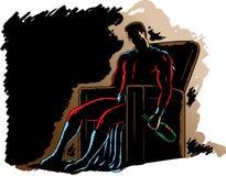 Herói alcoólico ilustração royalty free