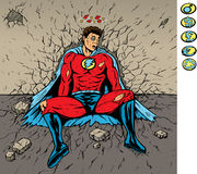 Herói batido Imagens de Stock
