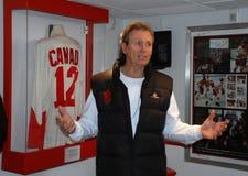 Herói canadense do hóquei, Paul Henderson Fotos de Stock Royalty Free
