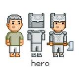 Herói da arte do pixel Fotografia de Stock Royalty Free