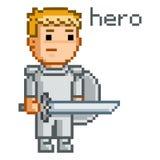 Herói da arte do pixel Imagens de Stock Royalty Free