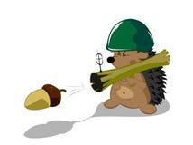 Herói da floresta do Hedgehog Imagens de Stock Royalty Free
