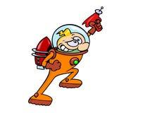 Herói do espaço Imagens de Stock