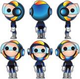 Herói do projeto da mascote ilustração royalty free