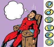 Herói esgotado ou doente Fotos de Stock Royalty Free