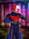 Herói futurista do anime do manga do soldado Foto de Stock Royalty Free