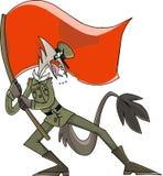 Herói militar ilustração stock