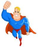 Herói super de voo ilustração do vetor