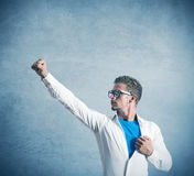 Herói super do homem de negócios Imagem de Stock Royalty Free