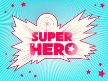 Herói super lettering Imagens de Stock