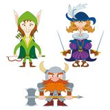 Heróis da fantasia, grupo Imagens de Stock