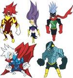 Heróis poderosos ilustração do vetor