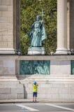 Heróis quadrados em Budapest, Hungria Imagens de Stock Royalty Free