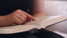 Her Bible Study Devotional Time stock footage
