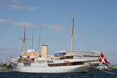 Her Danish Majesty's Yacht Dannebrog Stock Images