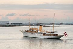 Her Danish Majesty Yacht Dannebrog in Copenhagen harbour Stock Images