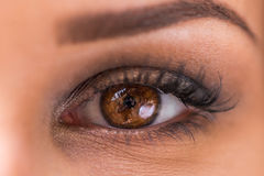 Her eye is saying what words can`t royalty free stock photos
