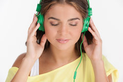 Her favourite music. Royalty Free Stock Photo