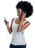 Her favourite playlist Royalty Free Stock Photo