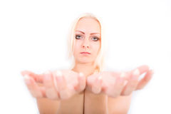 In her hands Royalty Free Stock Images