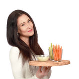 Her healthy snacks Royalty Free Stock Photography